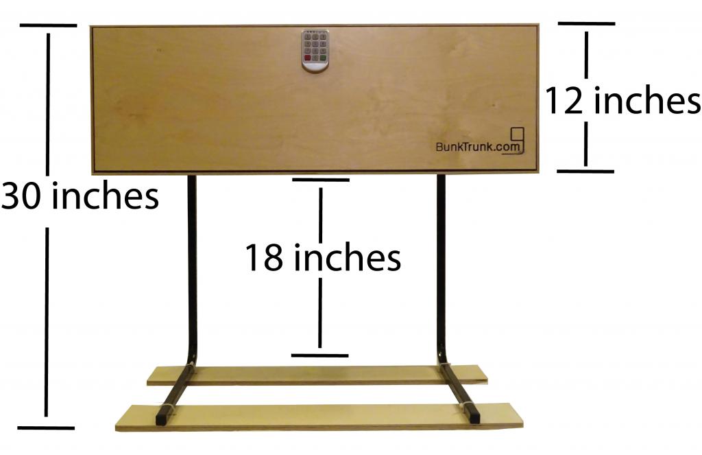 BunkTrunk Standard Leg Dimensions